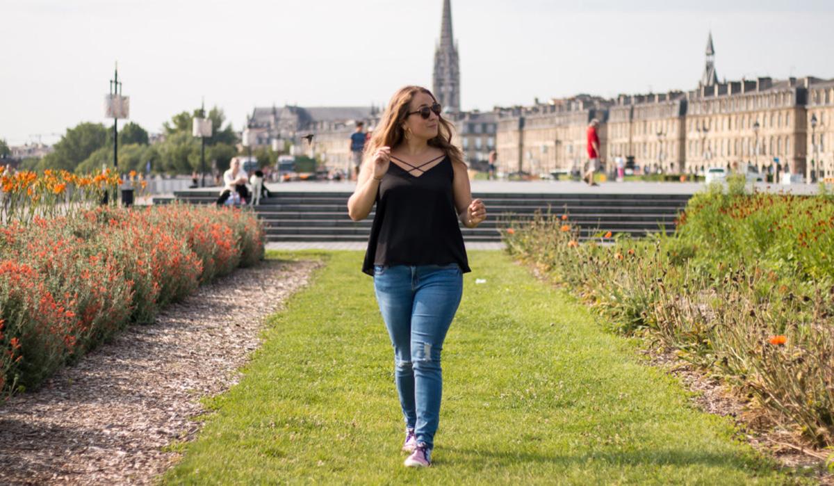 Portrait de la blogueuse Camille in Bordeaux