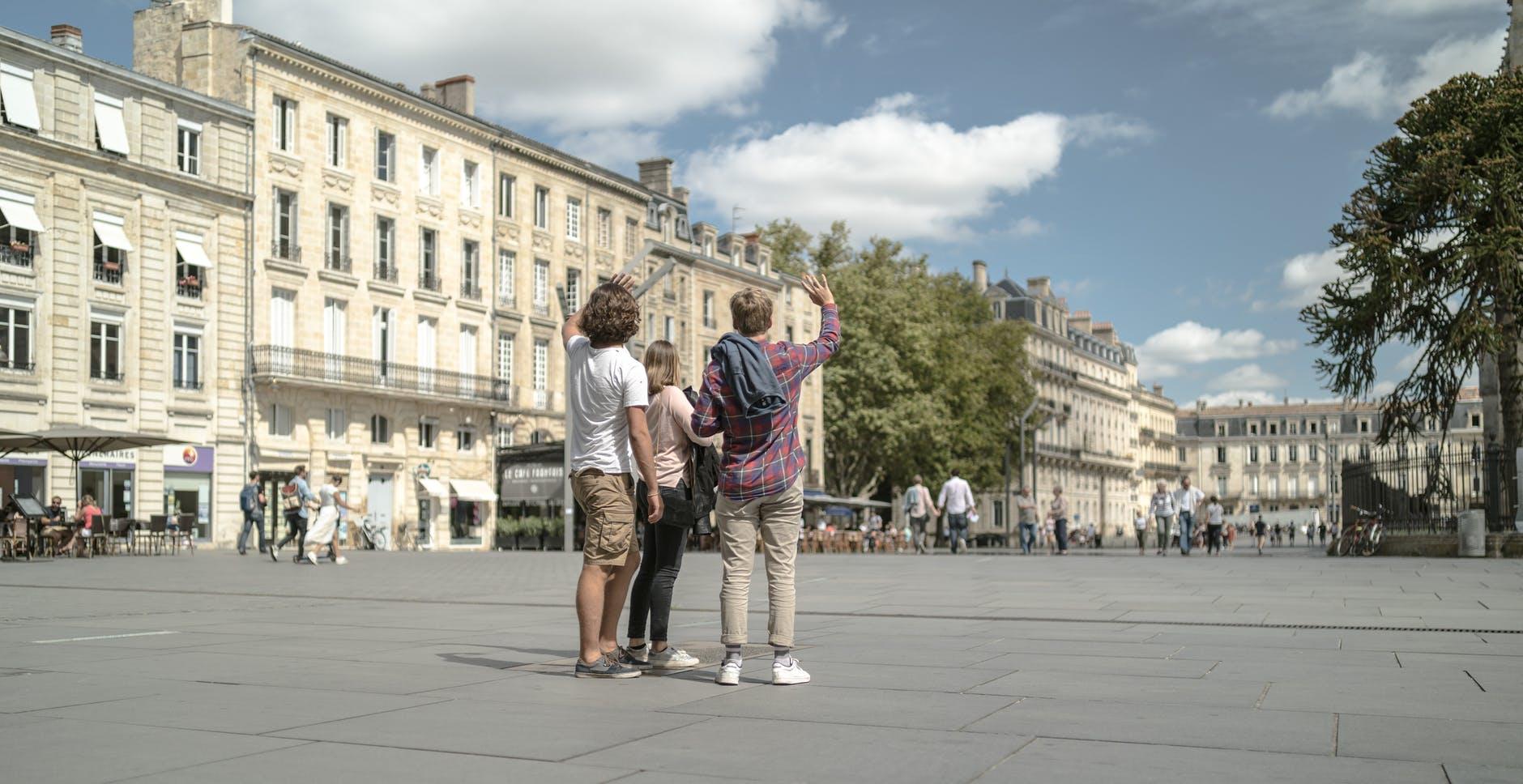 Visiteurs de la ville de Bordeaux
