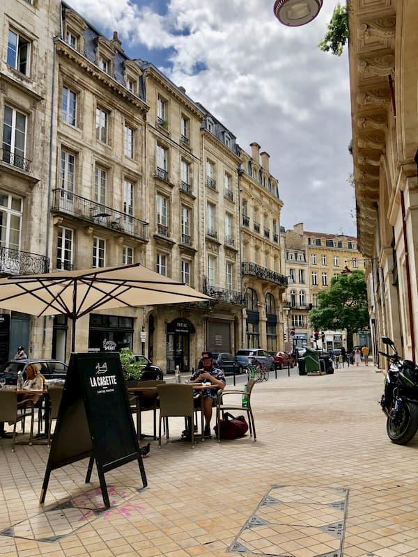 Place du centre de Bordeaux